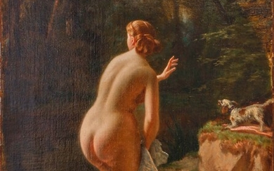 Bather 1868-1871 Oil on canvas signed and dated twice lower...