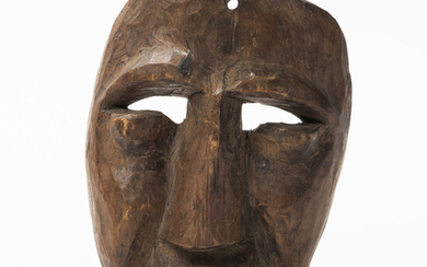 Central American Carved Wood Mask