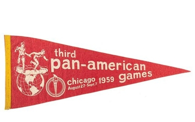 Chicago 1959 Pan American Games Pennant