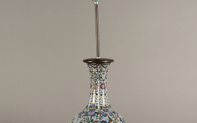 Cloisonné table lamp. China. 20th century.