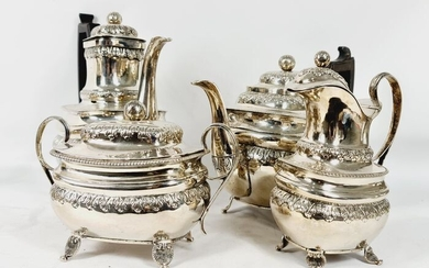 Coffee and tea service - .800 silver - Early 19th century