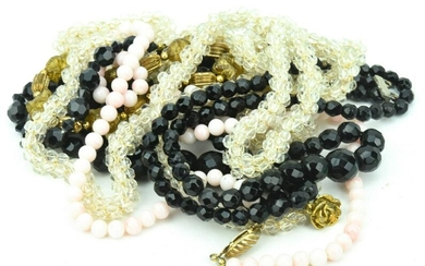 Collection Of Beaded Necklace Strands