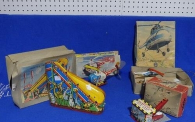 Four vintage 'Western Germany' tinplate toys, all boxed, inc...