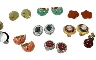 Group of 11 Pairs of Earrings, by various costume