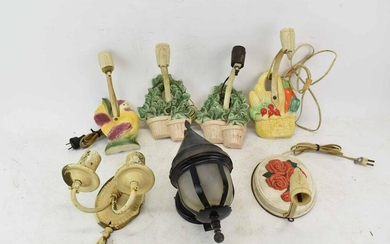 Group of Vintage Ceramic Wall Sconces