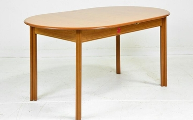 Oval Mid Century Modern Dining Table - Pop Up Leaf