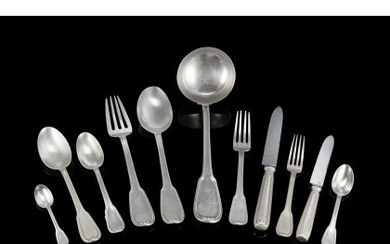 Part of a silver flatware service. Titled 800 (g 2760 ca.)Read more