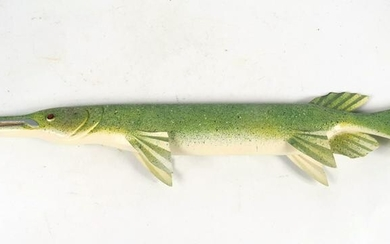 Robert Gallegos, Carved and Painted Gar Fish