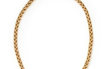 YELLOW GOLD AND MULTIGEM KEY NECKLACE