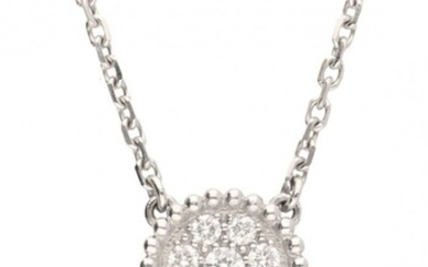 18K. White gold Van Cleef & Arpels necklace and 'Diamond Magic Alhambra' pendant set with...