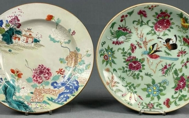 2 plates. Porcelain. Probably China antique.