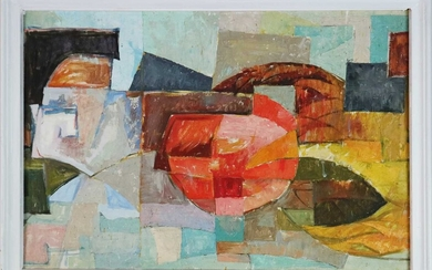 20th Century Double-Sided Abstract Composition