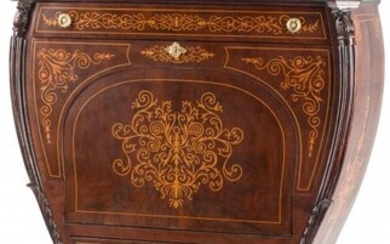A Baltic Inlaid Fall Front Secretary with Fitted