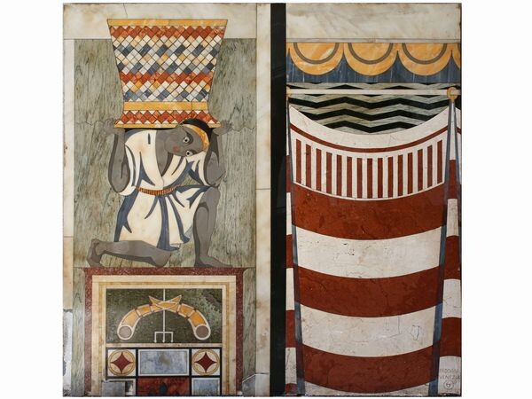 A marble inlaid table top, Padoan, Venice