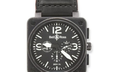 A stainless steel wristwatch, BR 01 Aviation, Bell &