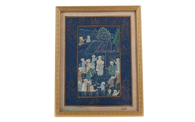 AN EARLY 20TH CENTURY INDIAN MUGHAL PAINTING