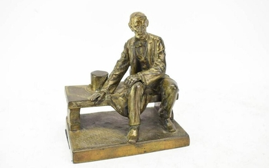 After John Gutzon Borglum, 'Seated Lincoln'