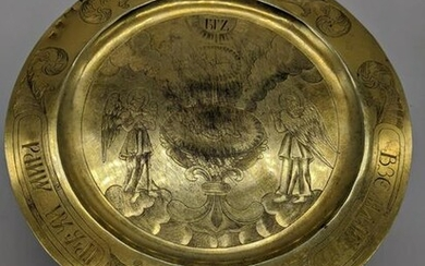 An 18th century Russian silver and silver gilt tazza or