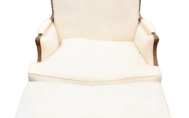 Antique Chaise Lounge, Upholstered