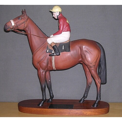 """BESWICK Exyta Large 31.1cm MODEL OF THE RACE HORSE """"RED RUM-..."""