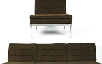 C. 1970'S FLORENCE KNOLL SOFA AND CHAIR