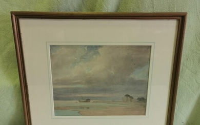 'COASTAL VIEW' WATER COLOUR FROM THE STUDIO OF LUCY, - LADY ...