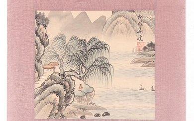 Chinese School, Watercolor on Silk