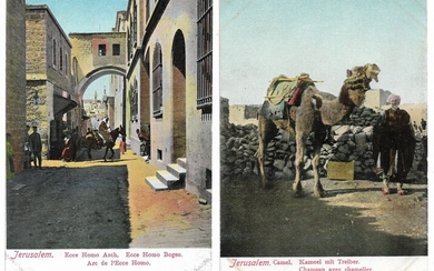 Collection of 26 Palestine Postcards by Vester