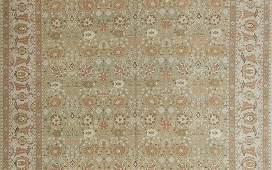 EXTREMELY FINE MODERN TURKISH CARPET OF A TABRIZ DESIGN. 14 ft 1 in x 10 ft 2 in (4.29 m x 3.1 m)