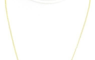 Gold Over Sterling Silver & Baroque Pearl Necklace