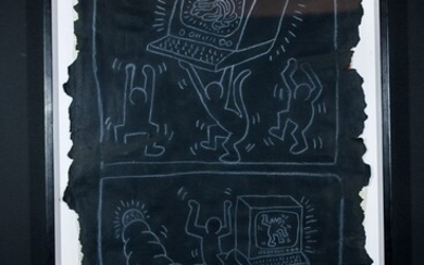 KEITH HARING Senza titolo (Subway drawing) 1984 circa