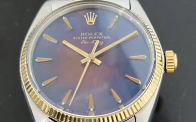 Mens Rolex Oyster Perpetual 5501 Air King 34mm 14k Gold