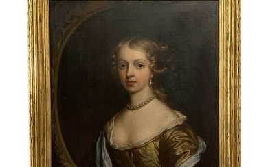 Oil on Canvas, Portrait of a Young Woman