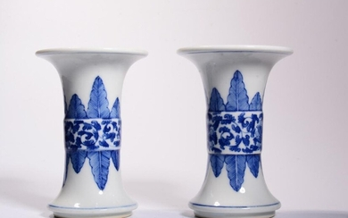Pair of Chinese Blue and White Porcelain Vase,Mark
