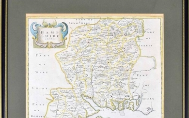 Robert Morden (1650-1703) - 'Hampshire' inscribed with the c...