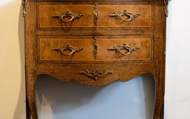Small commode style Louis XV with marble top
