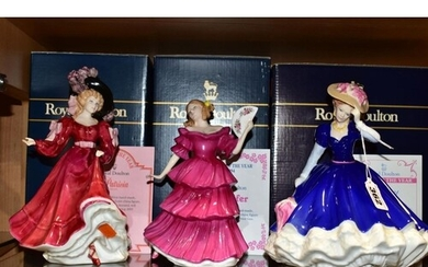 THREE BOXED ROYAL DOULTON FIGURES OF THE YEAR, comprising 'M...