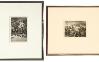 Two Photo Etchings, including Battle of the Boyne