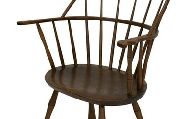 Windsor Bow Back Armchair, height 35 1/2 inches, seat