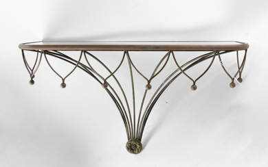 Wrought Iron Wall Table