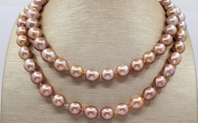 10x12mm Pink Edison Freshwater pearls - Necklace