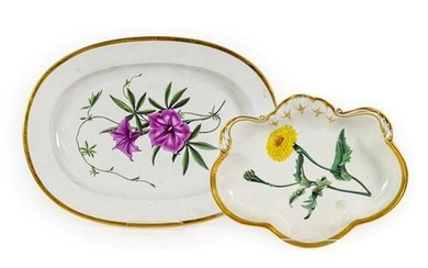 A Chamberlains Worcester Porcelain Meat Platter, en suite with the...