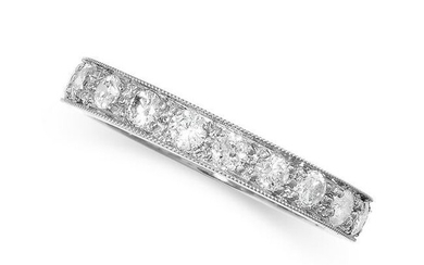 A DIAMOND FULL ETERNITY RING, set with a single row of