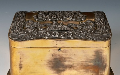 A Prince Albert's Own Hussars box, of shaped form, probably ...