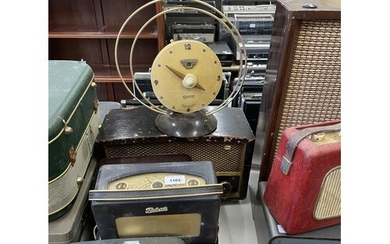 A Roberts portable radio, and various other audio equipment ...
