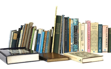 A large collection of approximately seventy books and publications on William Morris