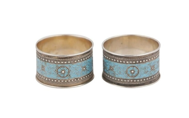 A pair of early 20th century Norwegian silver and