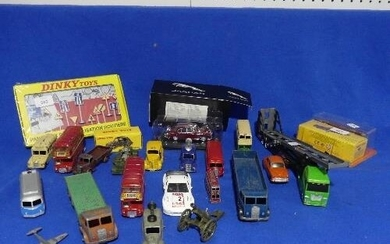 A quantity of die-cast Model Vehicles, mostly Dinky, some Ch...
