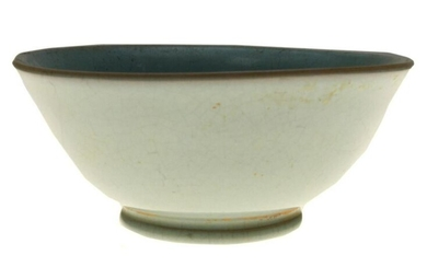 AN ANTIQUE CHINESE CELADON-GLAZED BOWL