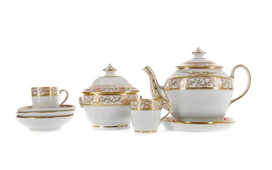 AN EARLY 19TH CENTURY ENGLISH PORCELAIN PART TEA SERVICE